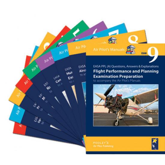 Набор книг авиационных Pooleys Q&A Examination Preparation Books 1-9