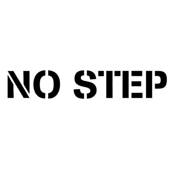 "Наклейка авиационная NO STEP 1""X 5"" DECAL BLACK LETTERS"