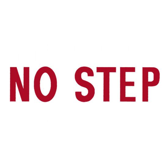 Наклейка авиационная NO STEP DECAL RED ON WHITE