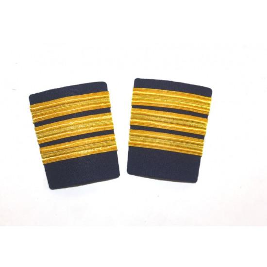 Погоны гражданской авиации A Cut Above Uniforms Navy and Gold 3 полосы