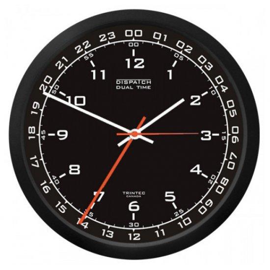 Часы настенные DUAL TIME 12/24 BLACK