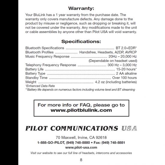 Bluetooth адаптер для вертолетных гарнитур