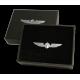 Значок авиационный PILOT WINGS MEDIUM silver/gold 3,5cm